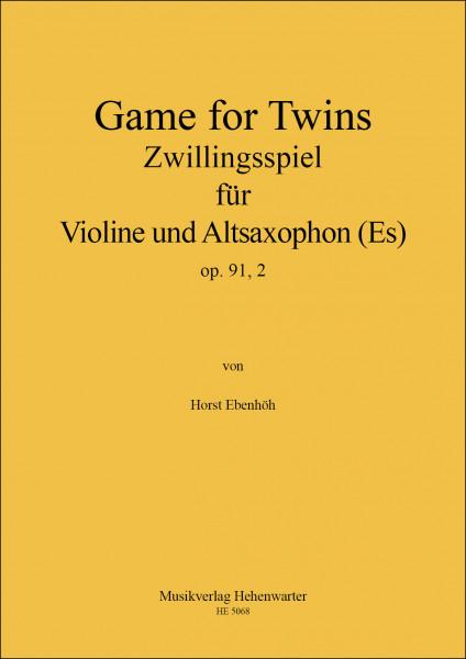 Ebenhöh, Horst – Zwillingsspiel für Violine und Altsaxophon (Es) - op. 91,2