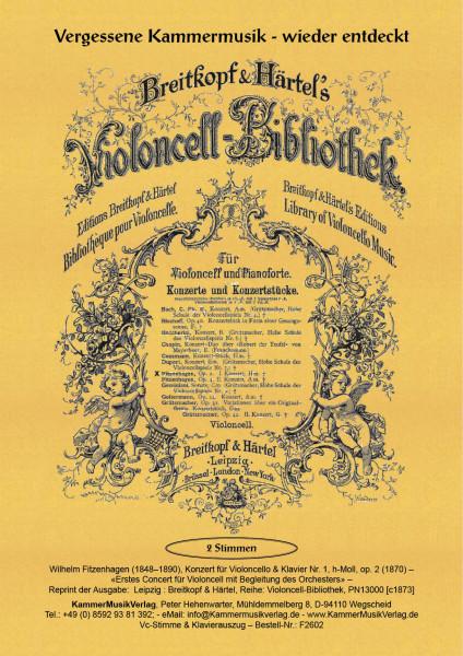 Fitzenhagen, Wilhelm – Konzert für Violoncello & Klavier Nr. 1