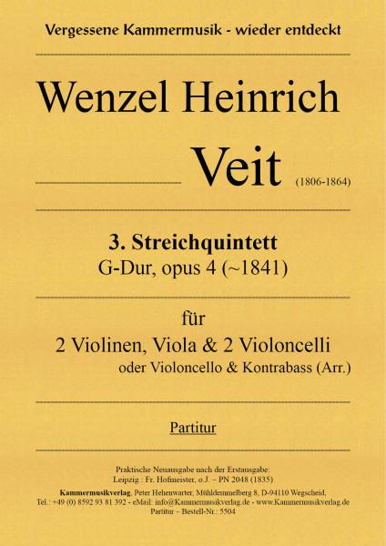 Veit, Wenzel Heinrich – Streichquintett Nr. 3, G-Dur, op. 4