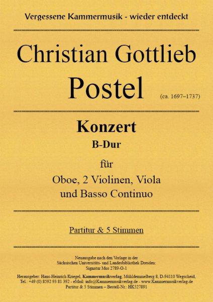 Postel, Christian Gottlieb – Konzert B-Dur für Oboe, 2 Violinen, Viola und Basso Continuo