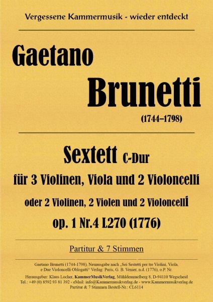 Brunetti, Gaetano – Sextett, C-Dur op. 1-4