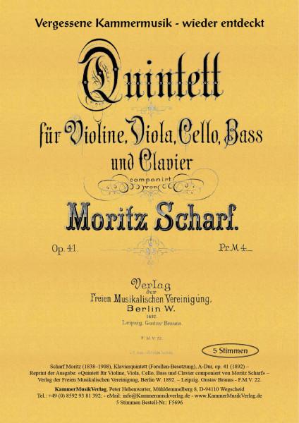 Scharf, Moritz – Klavierquintett (Forellen-Besetzung)