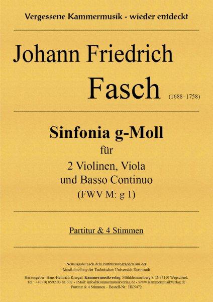 Fasch, Johann Friedrich – Sinfonia g-Moll (FWV M: g 1)
