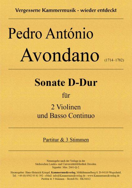 Avondano, Pedro António – Sonate D-Dur