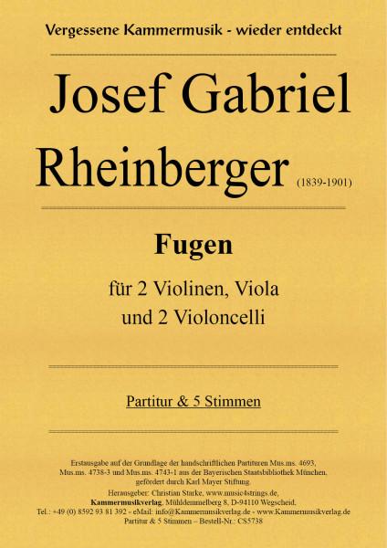 Rheinberger, Josef Gabriel – Fugen für Streichquintett (2Vc)