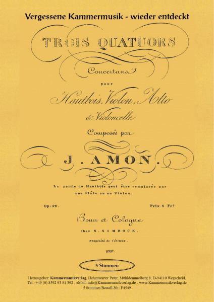 Amon, Johann Andreas – Drei Bläserquartette, in C-Dur, F-Dur, B-Dur, op. 1-4