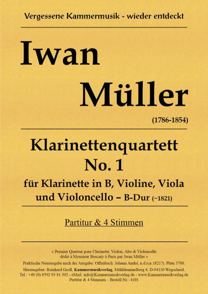 Müller Iwan – Klarinettenquartett No. 1, B-Dur