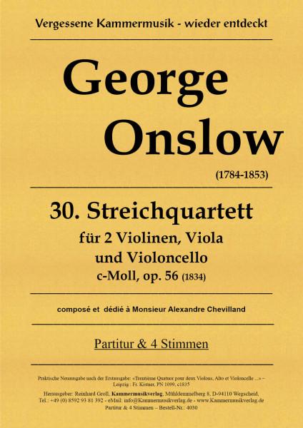 Onslow, George – Streichquartett Nr. 30, c-Moll, op. 56