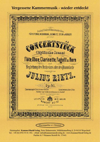 Rietz, Julius – Konzertstück für Bläserquintett, F-Dur, op. 41