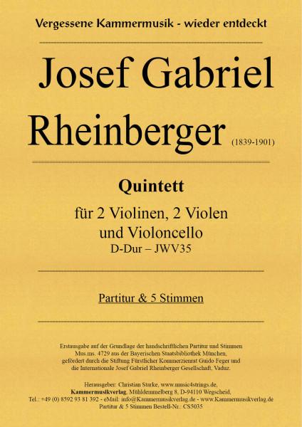 Rheinberger, Josef Gabriel – Quintett JWV35