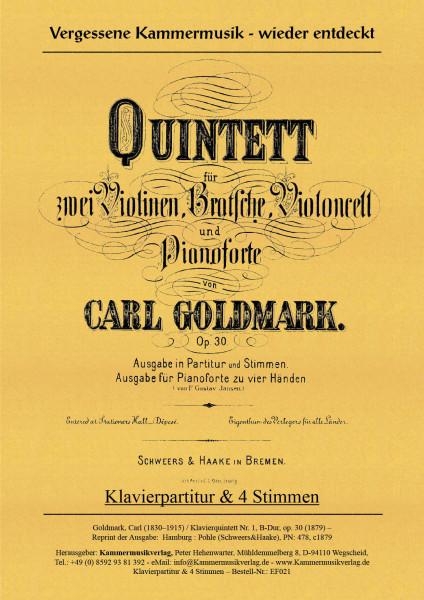 Goldmark, Carl – Klavierquintett Nr. 1, B-Dur, op. 30