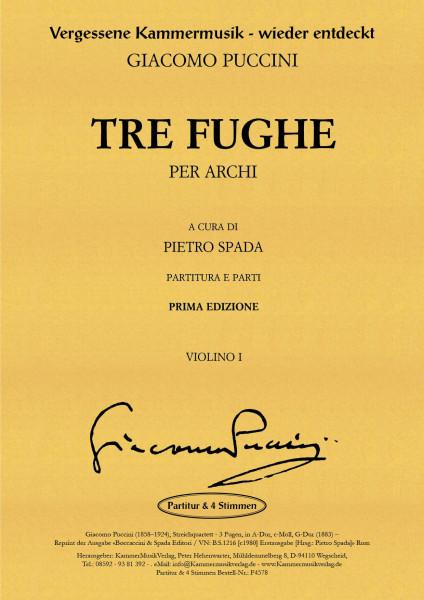 Puccini, Giacomo – Streichquartett - 3 Fugen, in A-Dur, c-Moll, G-Dur