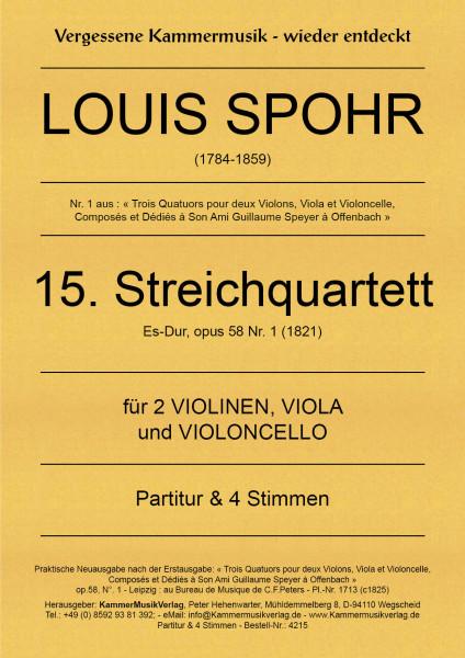 Spohr, Louis – Streichquartett Nr. 15, Es-Dur, op. 58-1