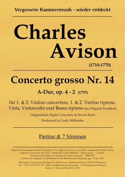 Avison, Charles – Concerto grosso Nr. 14