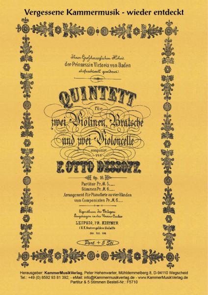 Dessoff, Felix Otto – Streichquintett