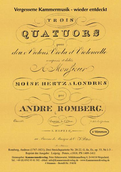 Romberg, Andreas – Drei Streichquartette Nr. 20-22, op. 53, Nr.1-3