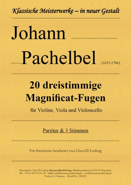 Pachelbel, Johann – 20 dreistimmige Magnificat-Fugen für Violine, Viola und Violoncello