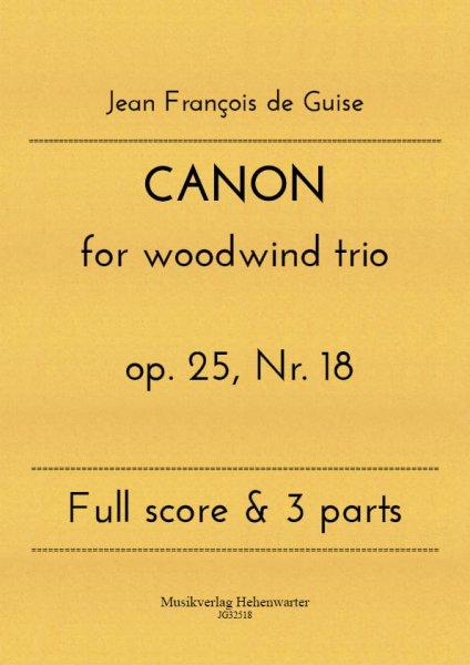 Guise, Jean François de – CANON for woodwind trio