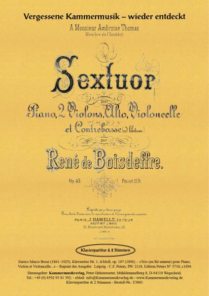 Bossi, Enrico Marco – Klaviertrio Nr. 1