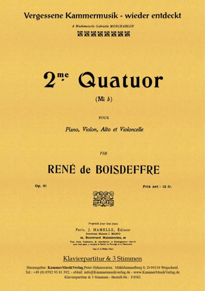 Boisdeffre, René de – Klavierquartett Nr. 2, Es-Dur, op. 91
