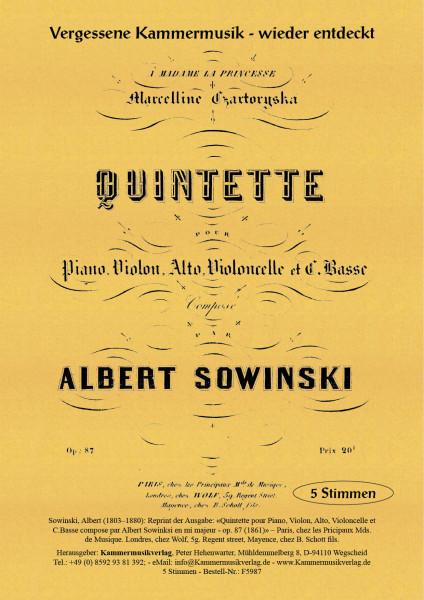 Sowinski, Albert – Klavierquintett mit Kontrabass