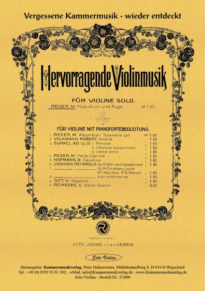 Reger, Max – Violine solo, a-Moll