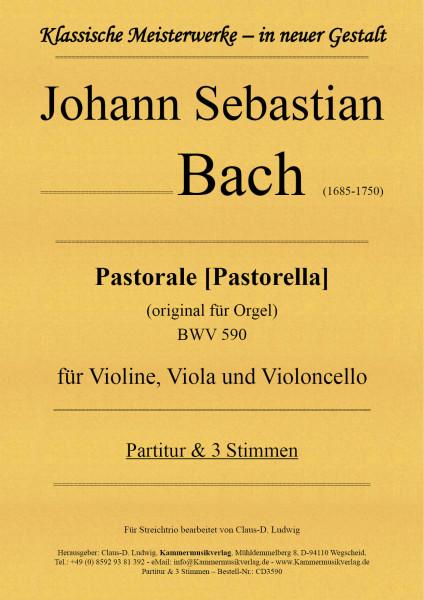 Bach, Johann Sebastian – Pastorale [Pastorella] für Violine, Viola und Violoncello
