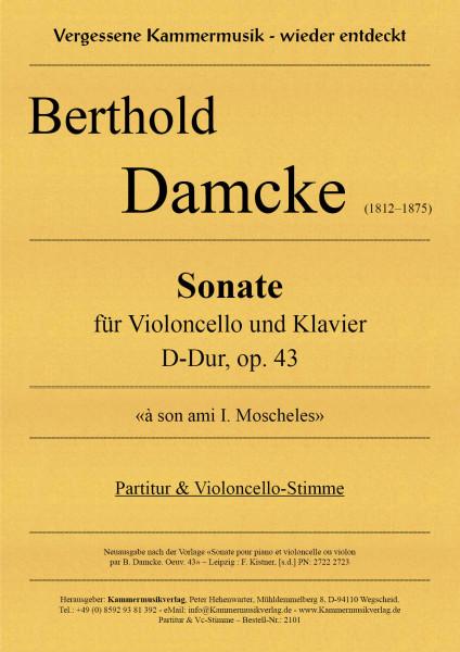 Damcke, Berthold – Sonate für Violoncello und Klavier, D-Dur, op. 43