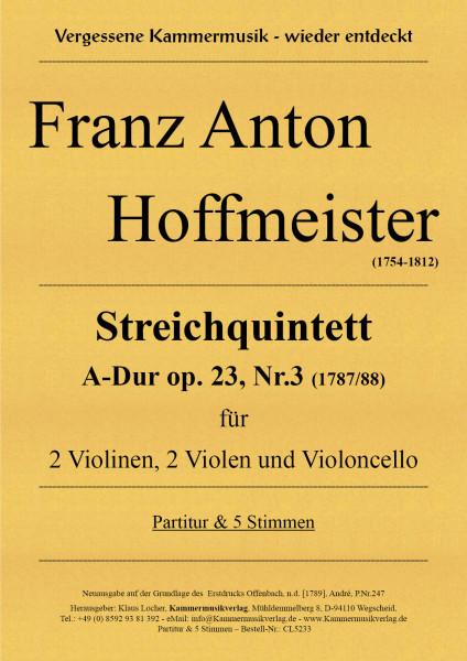 Hoffmeister, Franz Anton – Streichquintett A-Dur op. 23, Nr.3