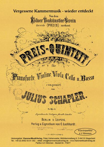 Julius Schapler – Klavierquintett, Es-Dur (1877)