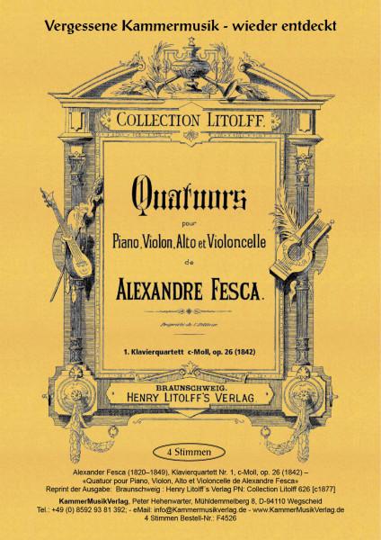 Fesca, Alexander – Klavierquartett Nr. 1