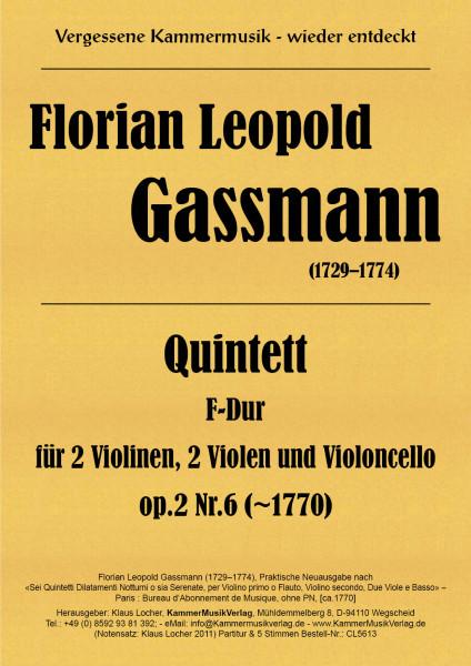 Gassmann, Florian Leopold – Streichquintett