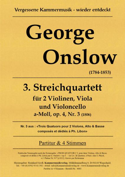 Onslow, George – Streichquartett Nr. 03 in a-Moll, op. 4-3