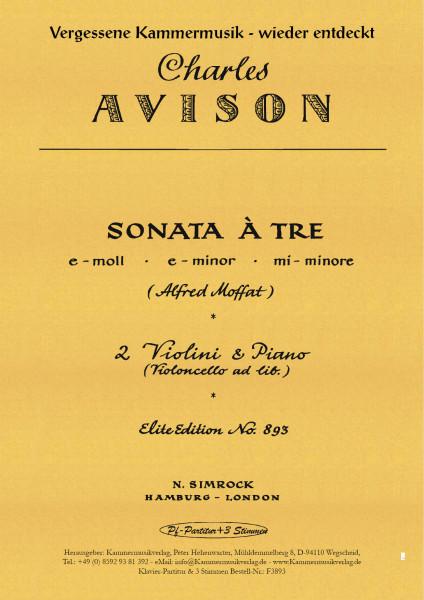 Avison, Charles – Triosonate, e-Moll, op.1