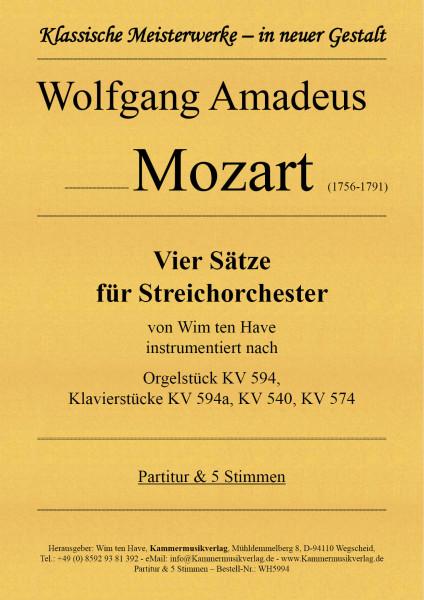 Mozart, Wolfgang Amadeus – Vier Sätze für Streichorchester
