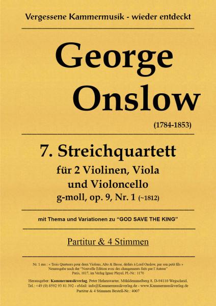 Onslow, George – Streichquartett Nr. 07 in g-moll, op. 9-1