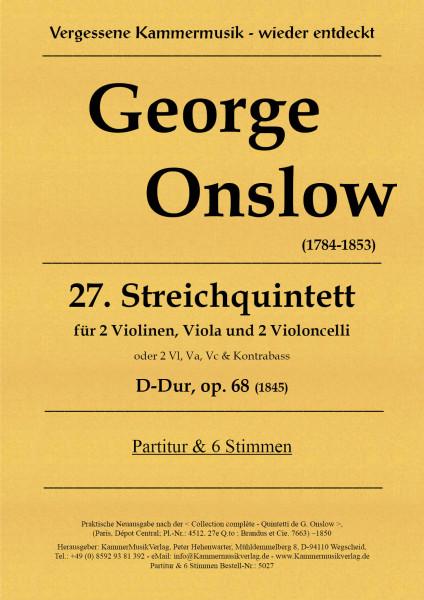 Onslow, George – Streichquintett Nr. 27, D-Dur, op. 68