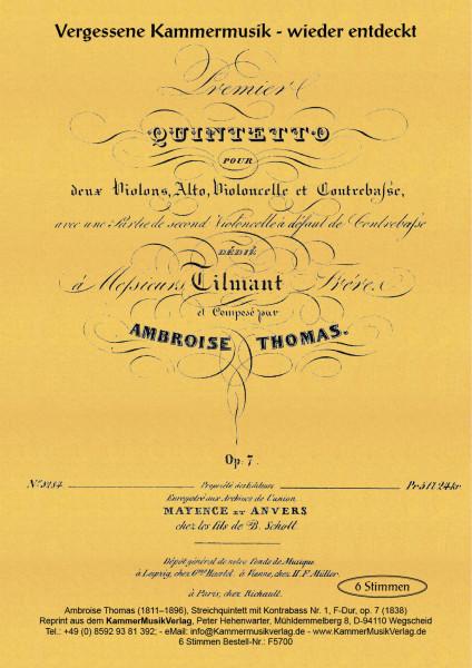 Thomas, Ambroise – Streichquintett mit Kontrabass Nr. 1
