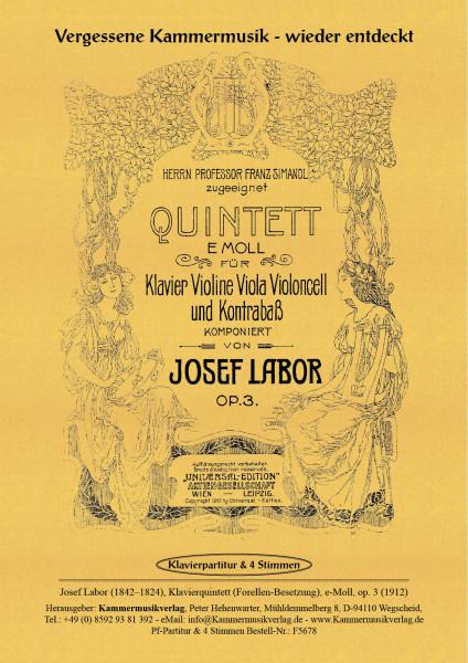 Labor, Josef – Klavierquintett