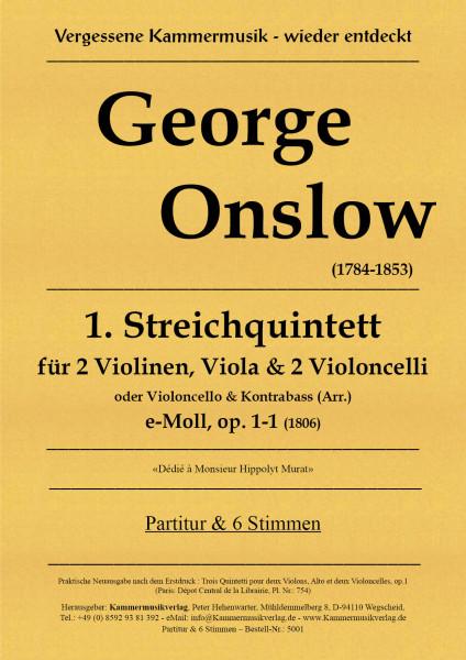 Onslow, George – Streichquintett Nr. 01, e-Moll, op. 1-1