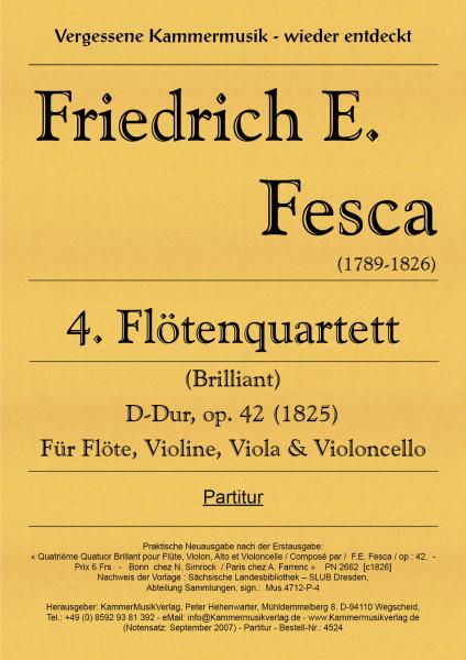 Fesca, Friedrich Ernst – Flötenquartett Nr. 4, D-Dur, op. 42