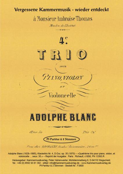 Blanc, Adolphe – Klaviertrio Nr. 4