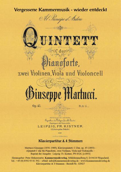 Martucci, Giuseppe – Klavierquintett, C-Dur, op. 45