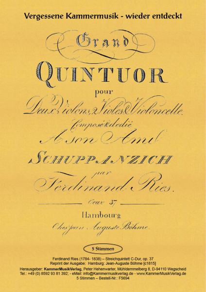 Ries, Ferdinand – Streichquintett, C-Dur, op. 37