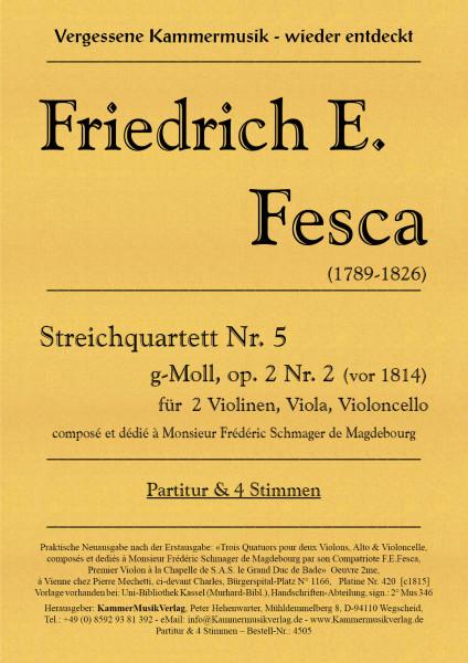 Fesca, Friedrich Ernst – Streichquartett Nr. 5, g-Moll, op. 2-.2