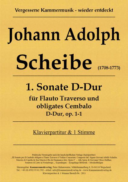 Scheibe, Johann Adolph – Flötensonate, D-Dur, op. 1-1