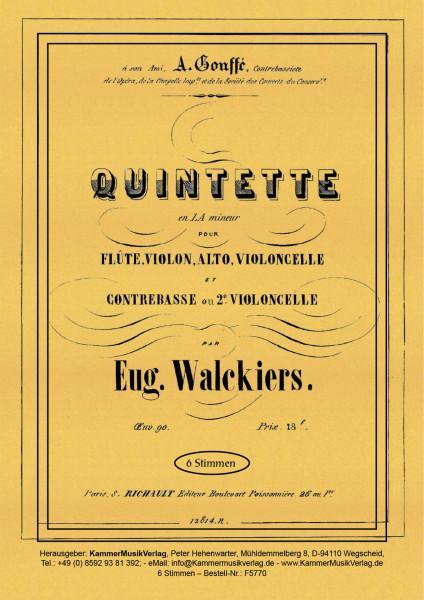 Walckiers, Eugéne – Flötenquintett, a-Moll, op. 90