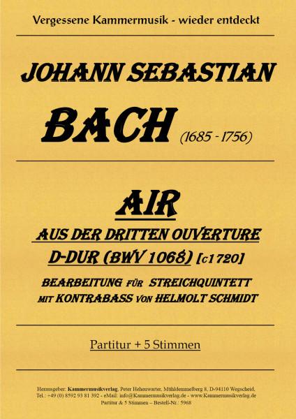 Bach, Johann Sebastian – Streichquintett mit Kontrabass