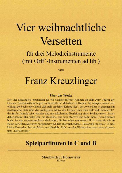 Kreuzlinger Franz – Vier weihnachtliche Versetten