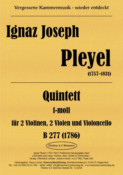 Pleyel, Ignaz – Streichquintett, f-Moll, Benton277